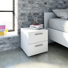 Load image into Gallery viewer, Pepe Bedside 2 Drawers in White