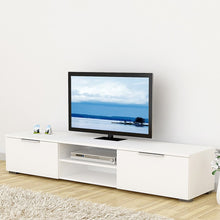 Load image into Gallery viewer, Match TV Unit 2 Drawers 2 Shelf in White High Gloss