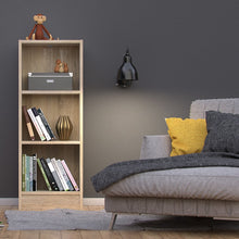 Load image into Gallery viewer, Basic Low Narrow Bookcase (2 Shelves) in Oak