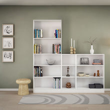Load image into Gallery viewer, Basic Tall Wide Bookcase (4 Shelves) in White