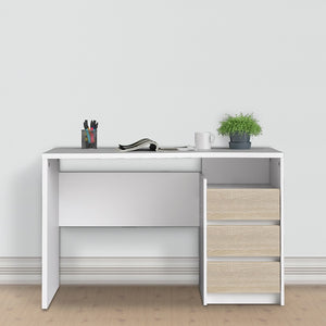 Function Plus Desk 3 drawers White Oak structure