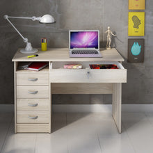 Load image into Gallery viewer, Function Plus Desk 5 Drawers in Oak