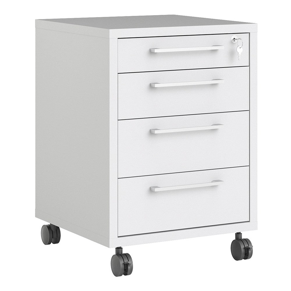 Prima Mobile cabinet in White
