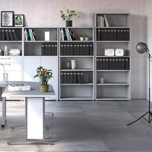 Load image into Gallery viewer, Prima Bookcase 5 Shelves in White