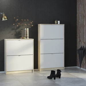 Shoes Shoe cabinet w. 2 tilting doors and 1 layer