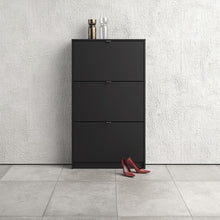 Load image into Gallery viewer, Shoes Shoe cabinet w. 3 tilting doors and 1 layer
