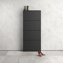Load image into Gallery viewer, Shoes Shoe cabinet w. 4 tilting doors and 1 layer