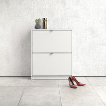 Load image into Gallery viewer, Shoes Shoe cabinet  w. 2 tilting doors and 2 layers