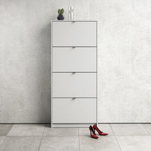 Load image into Gallery viewer, Shoes Shoe cabinet  w. 4 tilting doors and 2 layers