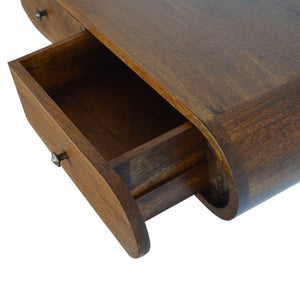 Wall Mounted Chestnut Console Table