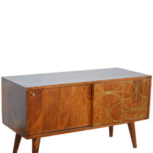 Load image into Gallery viewer, Chestnut Gold Inlay Abstract Sideboard