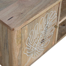 Load image into Gallery viewer, Leaf Embossed Resin Solid Wood Media Unit