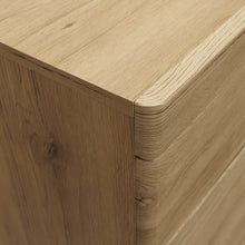 Load image into Gallery viewer, Kensington 2 Drawer Bedside Cabinet LH Drawer (wall fixing) in Oak.