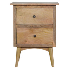 Load image into Gallery viewer, Nordic Style Bedside with 2 Drawers