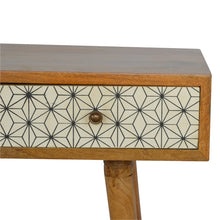 Load image into Gallery viewer, Geometric Screen Printed Writing Desk