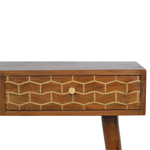 Gold Art Pattern Console Table