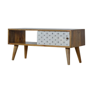 Geometric Sliding Door Media Unit