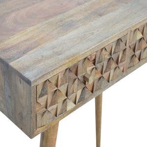 Diamond Carved Console Table