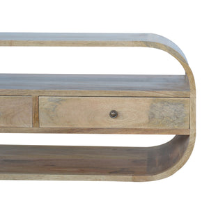 Curved Edge TV Unit with 2 Drawers