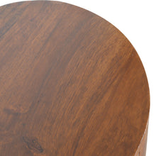 Load image into Gallery viewer, Chestnut Rounded Petite Console Table