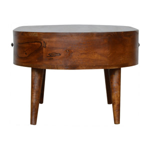 Chestnut Rounded Coffee Table