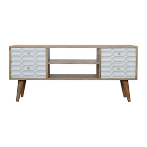 Capsule White Painted Media Unit