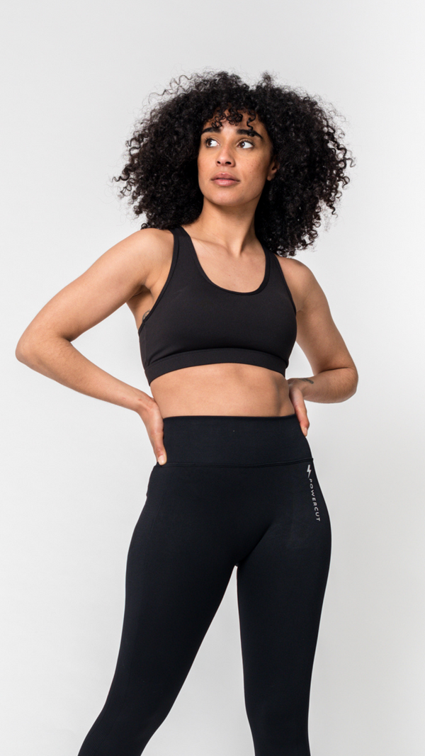 FNCTL Phone Pocket Sports Bra Black