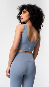 FreeLite Longline Pastel Blue Sports Bra