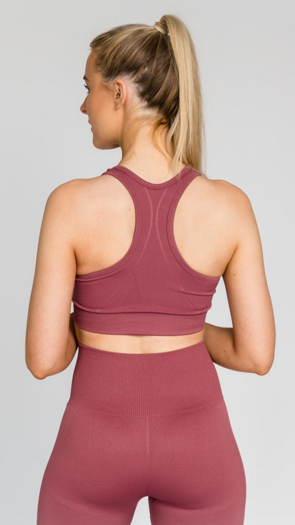 SOLID ROSE SPORTS BRA