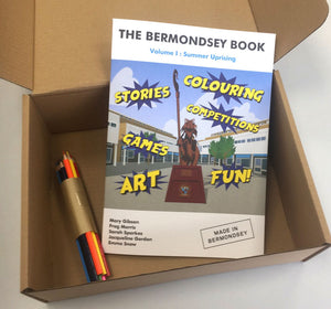 The Bermondsey Book - Activity Book with coloured pencils