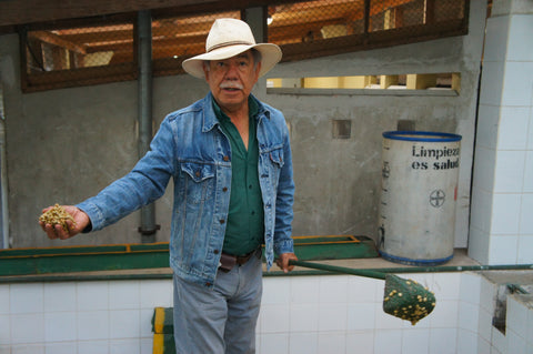 Arturo Aguirre, the owner of Finca El Injerto