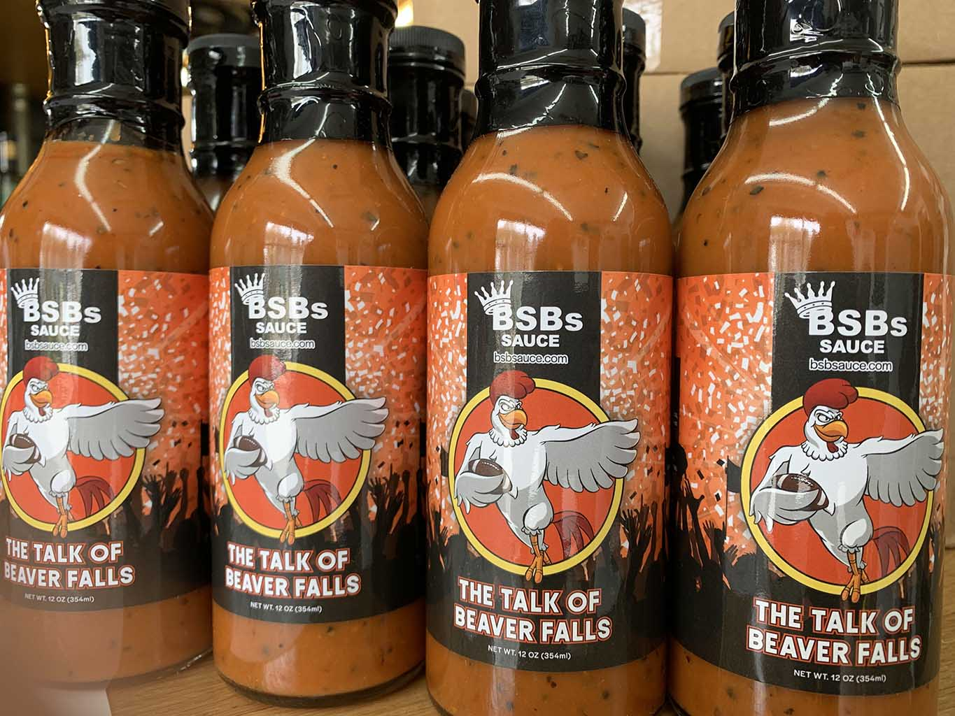 BSB Sauce - The Talk of Beaver Falls front label