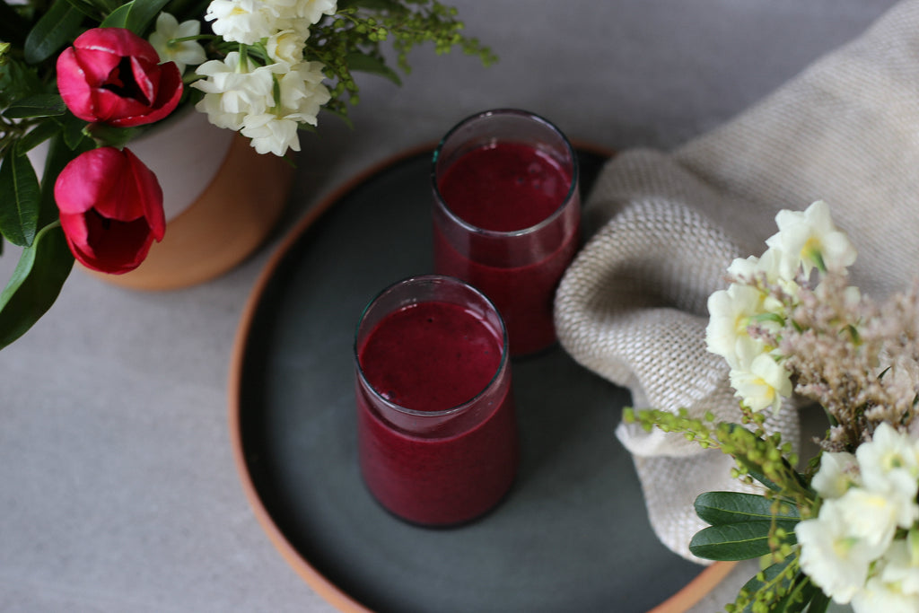 BEETROOT, BLACKCURRANT AND LEMON SMOOTHIE