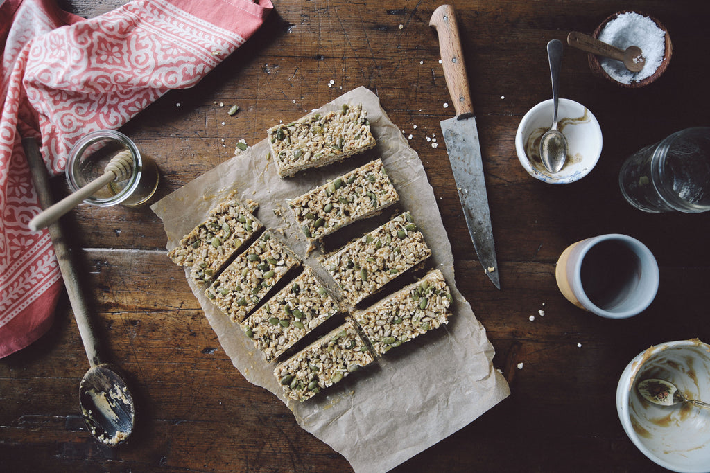 PEANUT BUTTER MUESLI BARS