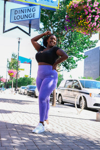 Andrea seamless leggings purple