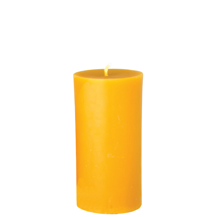Slim Beeswax Pillar Candle