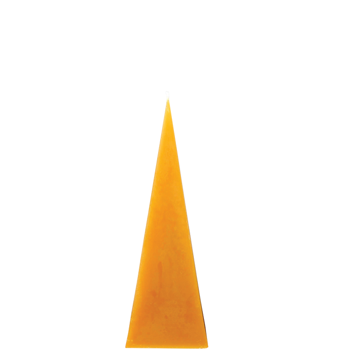 Beeswax Pyramid Candle, medium