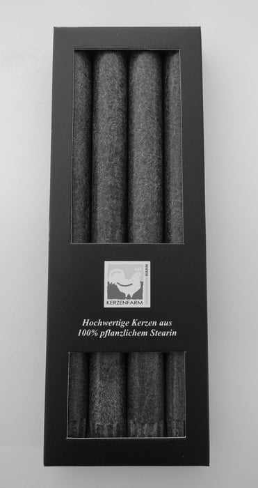4x Anthracite,Eco Palmwax, Dinner Candles