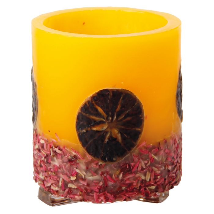 Hurricane Candle - Orange & Potpourri