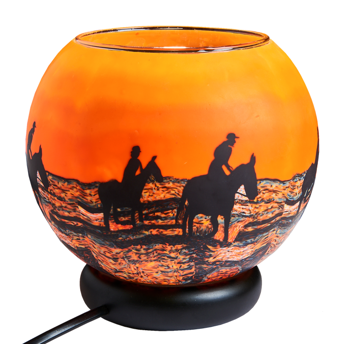 XLD Horses in Sunrise Lamp
