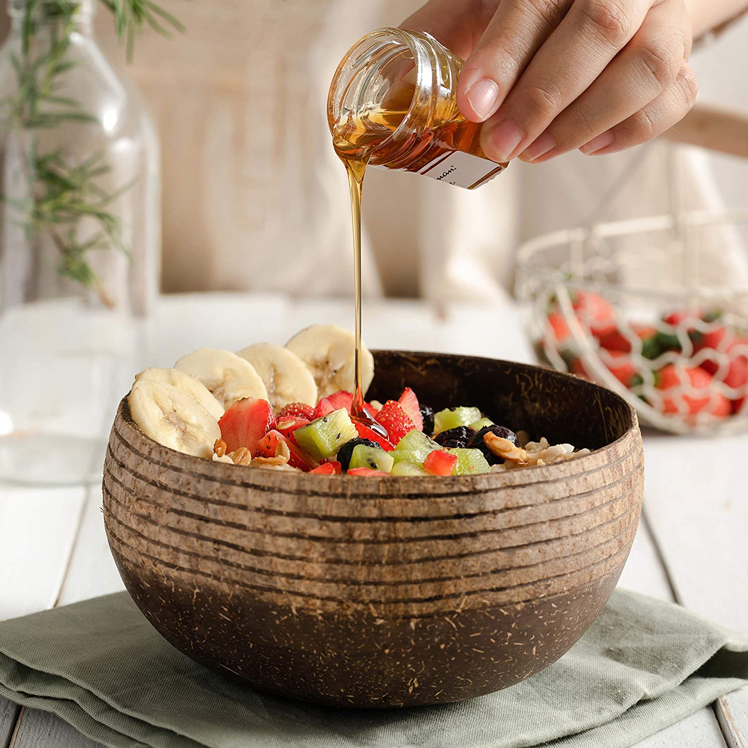 Boho Coconut Bowl & Spoon Set