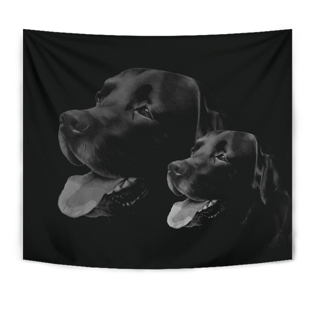 Black Labrador Print Limited Edition Tapestry