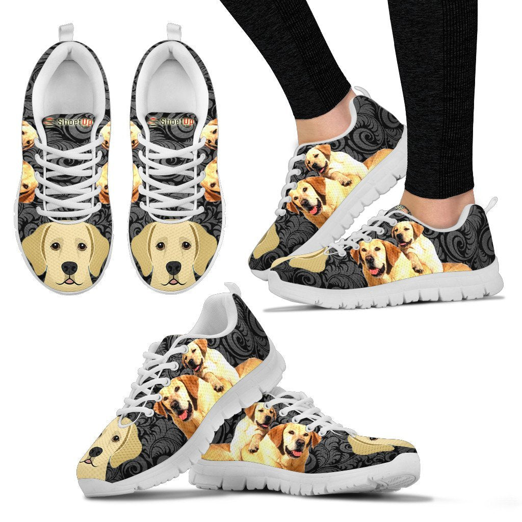 Labrador On Black Running Shoes for Women