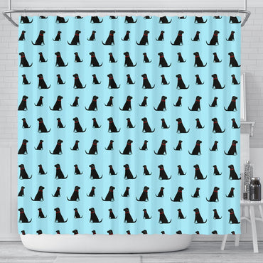 Labrador Pattern Print Limited Edition Shower Curtains