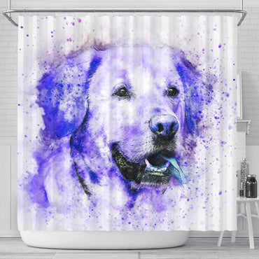Labrador Dog Watercolor Art Print Shower Curtains
