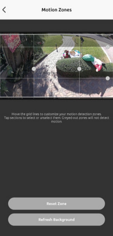 Motion Zones on a Wireless Outdoor Security Camera