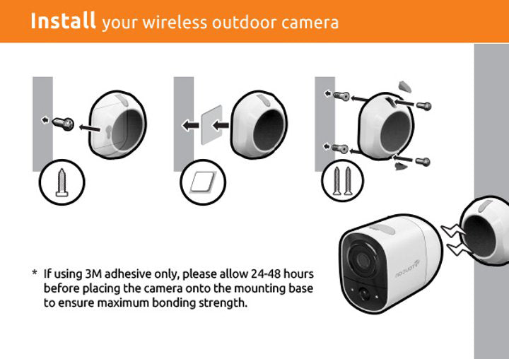 Install Toucan wireless security camera