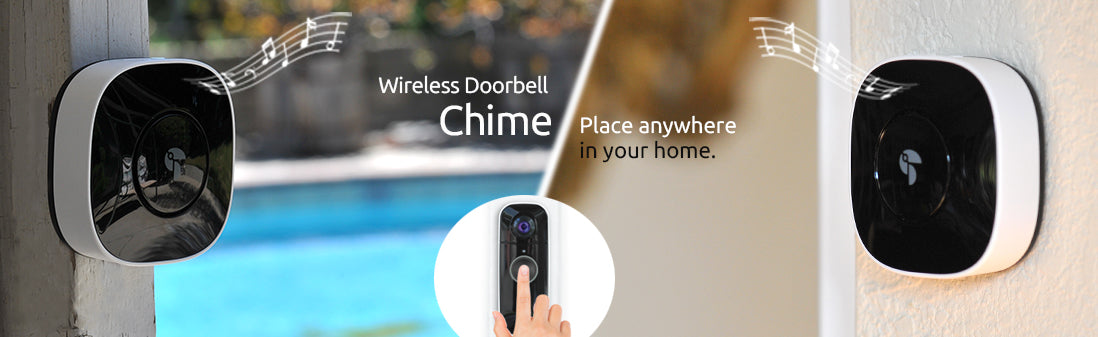 toucan wireless doorbell camera with chime