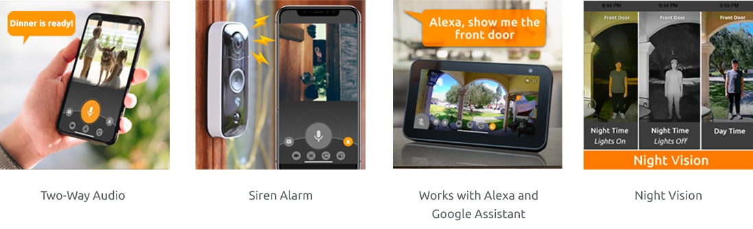 wireless outdoor camera and video doorbell