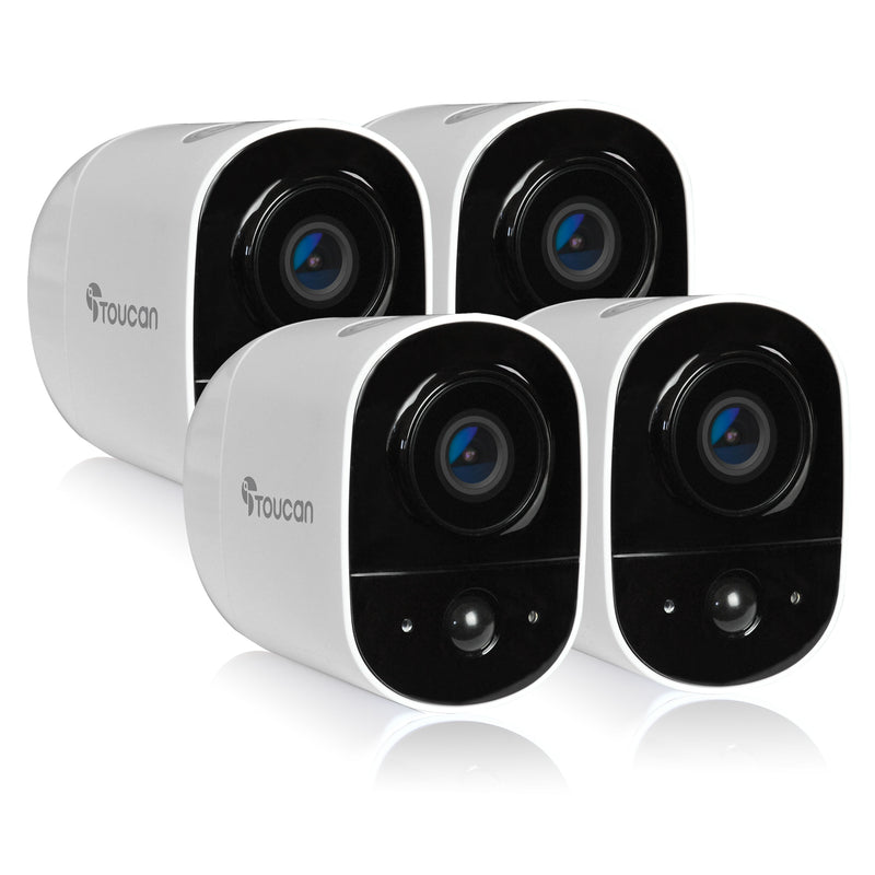 Toucan Wireless Outdoor Camera 4 pack